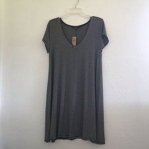 American eagle striped T-shirt dress